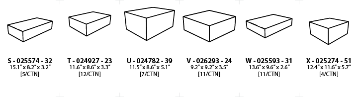 natural finish wood boxes - teals prairie & co.® box sizes diagram packaging box size measurement teals prairie & co.