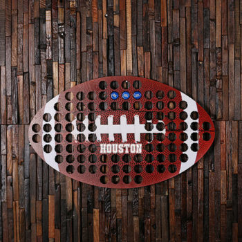 Football Shape Beer Cap Map Men's Gift & Man Cave Decoration T-025425