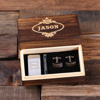Gentlemen's Money Clip, Tie Clip & Cuff Link Gift Set T-025332