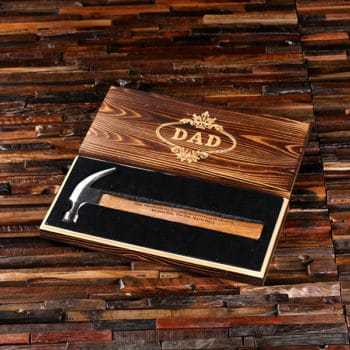 Personalized Hammer Hardware Tool with Keepsake Wood Box