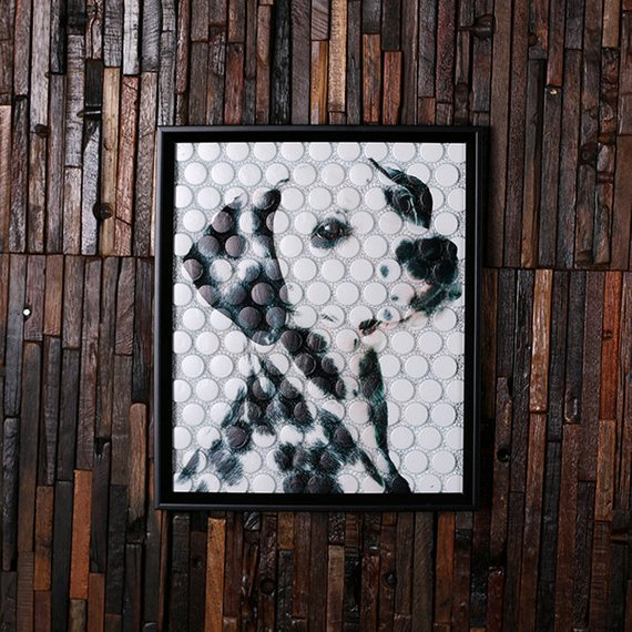 Personalized BeerCap Prints™ Beer Cap Wall Art - Dalmatian Image