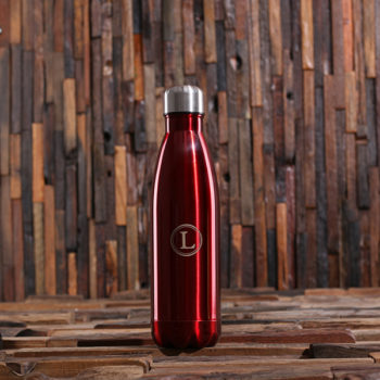 Personalized Water Bottle with Monogram in Red T-025380-Red