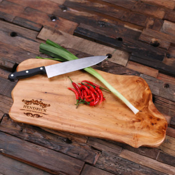 Personalized Cedar Wood Engraved & Monogrammed Cutting Board T-025205