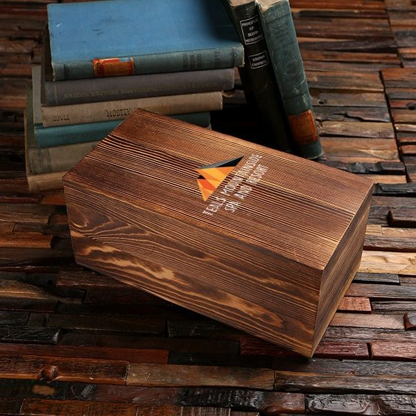 Customized personalized black, brown, white pine wood boxes.