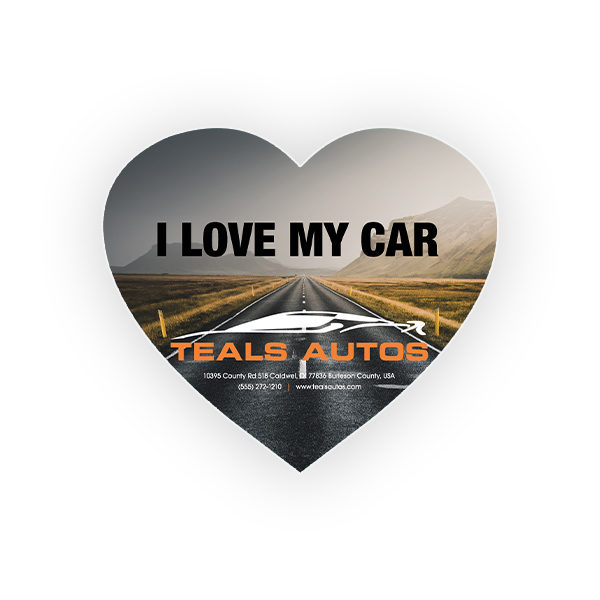 Custom Large Heart Cheap Decal Sticker